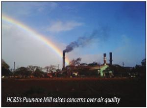 HC&S's Puunene Mill raises concerns over air quality