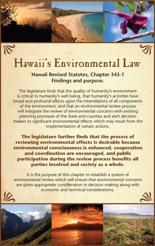 Hawaii environmental Law display