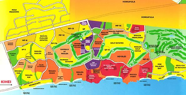 wailea and makena region maps