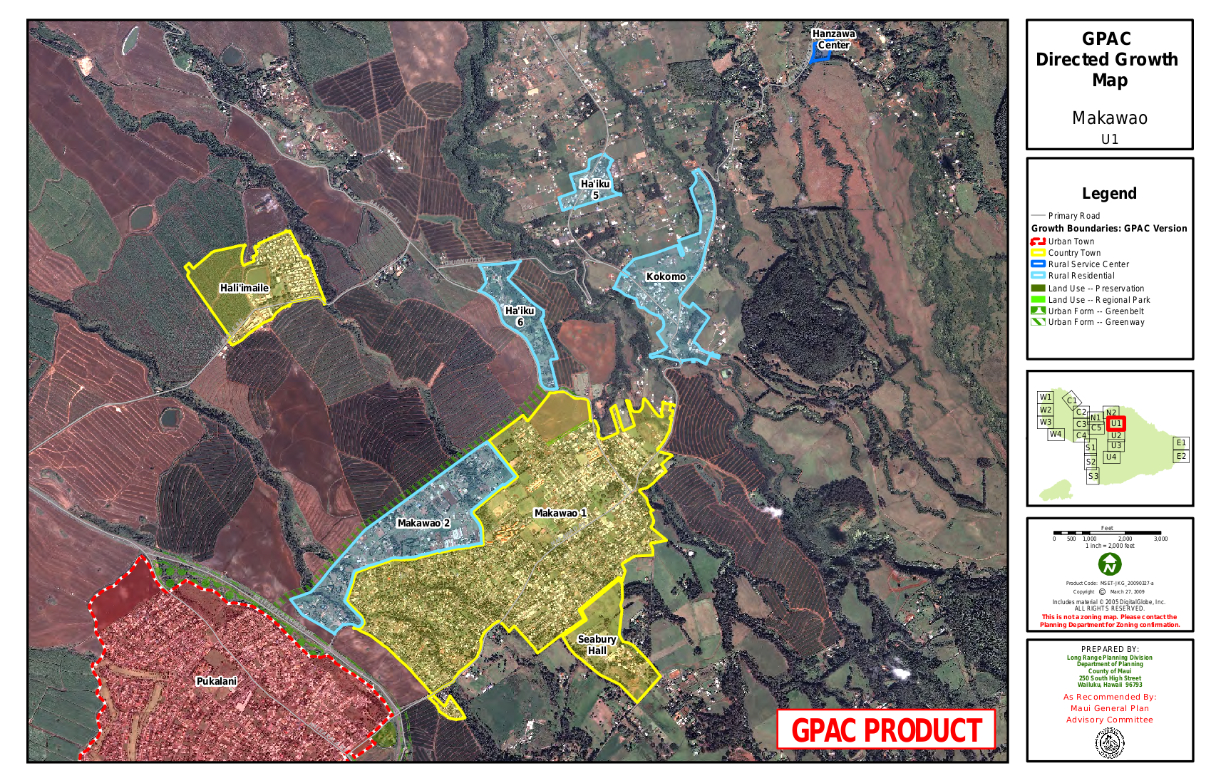 GPAC Directed Growth Map Makawao