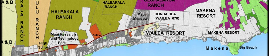 South Maui Landowners Map 2011