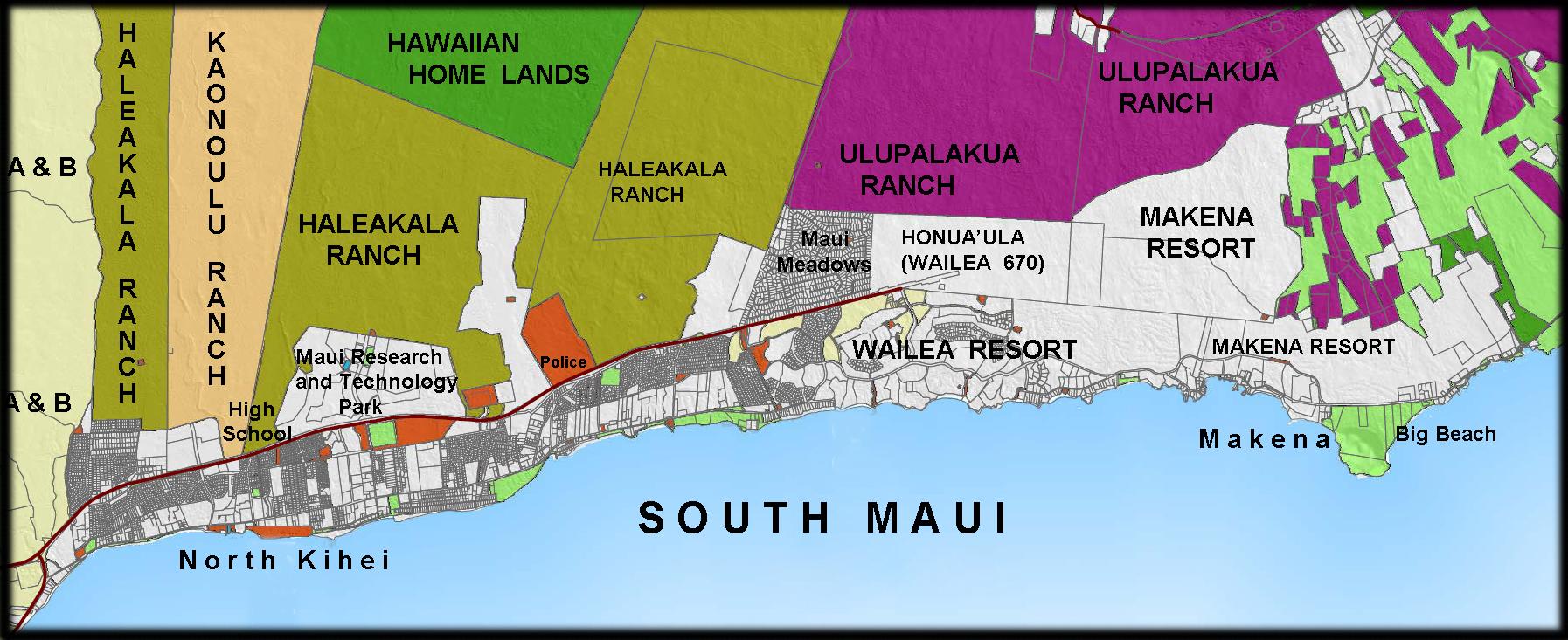 South Maui Landowners Map 2011   Maui Tomorrow Foundation Wailuku